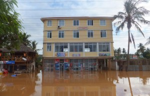 Flooded buildings on Bagamoyo Road, Dar es Salaam