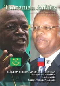 Cover features CCM presidential candidate, John Magufuli (left), and CHADEMA / UKAWA candidate, Edward Lowassa (right).
