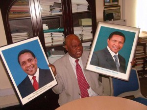 New (left) and old (right) official portraits of President Kikwete - photo Issah Michuzi