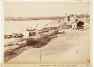 Dar-es-Salaam, (German East Africa) Kaiser St. & harbour. Aug. 23rd 1896 - Winterton Collection of East African Photographs: 12-1