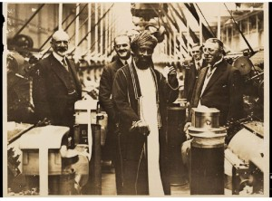 The Sultan being shown round a European-owned factory circa 1920-1930 - Winterton Collection of East African Photographs: 68-2