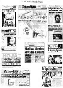 Tanzanian Press coverage of Mwalimu's death