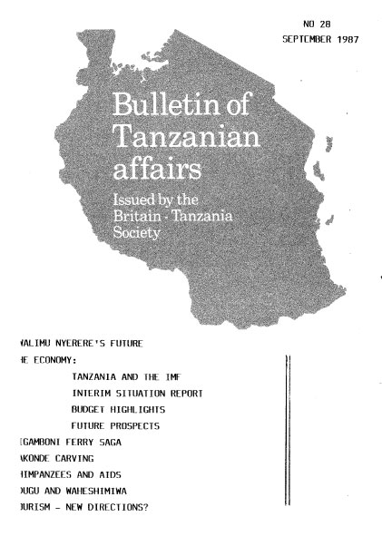 structural adjustment programmes in tanzania Peri-urban development in an era of structural adjustment in africa: the city of dar es salaam, tanzania structural adjustment programmes.