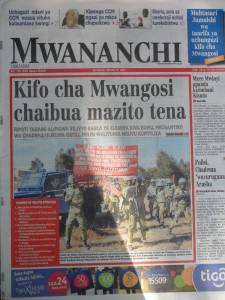 Coverage in Mwananchi