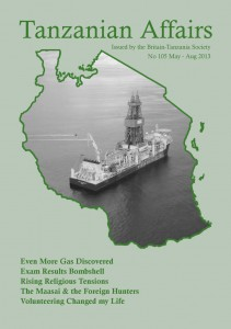 Issue 105 cover featured the Ocean Rig Poseidon used for gas exploration off the Tanzanian coast