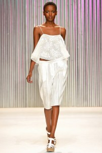 Flaviana Matata in a Tracy Reese creation at the NY show