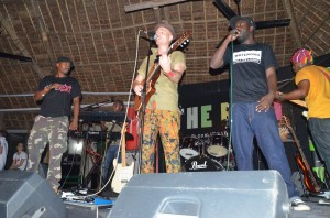Chaba Thomas, Mzungu Kichaa and Jcb Makalla performing at the Triniti club in Dar es Salaam in April. Photo KaLuLeTe