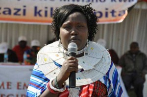 FGM campaigner Elizabeth Lesitey - photo from the Standard