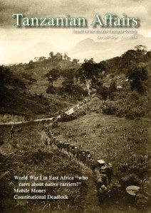 TA 109 cover features photo of Water Camp on Mikesse (near Morogoro) -Ruwu (near Kahe)road, December 1916. Imperial War Museum photo Q15412