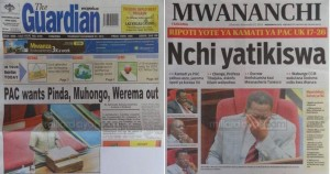 The CAG report dominated front pages on Nov 27th (millardayo.com)
