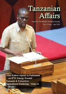 TA 110 cover featured Zitto Kabwe addressing parliament (photo Deus Bonaventura http://mhagalle.blogspot.com/)