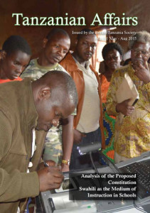 Cover features the MP for Ludewa, Deo Filikunnjombe, testing a biometric voting registration machine, with Prof. Amone Chaligha watching. (www.wavuti.com)
