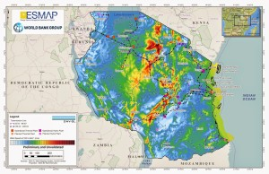 Wind speed and energy data for Tanzania (ESMAP)