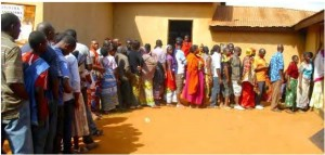 Queue for voter registration