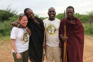 >>Dr Amy Dickman with Barabaig tribesmen. Photo Ruaha Carnivore Project http://ruahacarnivoreproject.com/