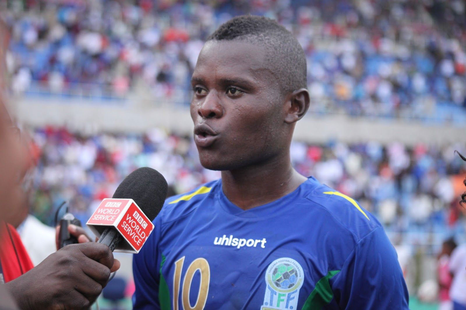907f76f6708 Mbwana Ally Samatta being interviewed after the AFCON finals